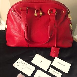 YSL Saint Laurent Muse Large Bag Red